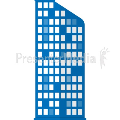 City Apartment Building Presentation clipart