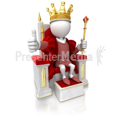 King Give Thumbs Up Presentation clipart