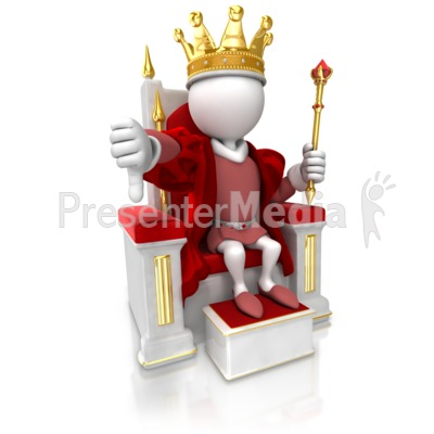 King Give Thumbs Down Presentation clipart