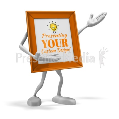 Picture Frame Presenter Presentation clipart