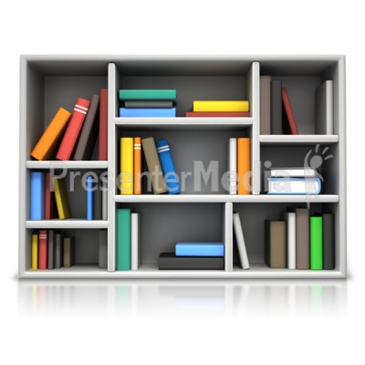 Book Compartment Shelving Presentation clipart