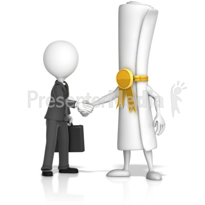 Document Handshake with Business Figure Presentation clipart