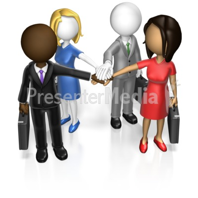 Business Team Huddle Custom Presentation clipart
