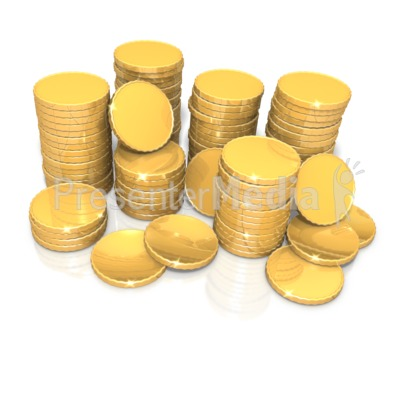 Stack Of Shiny Gold Coins Presentation clipart