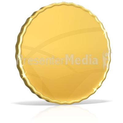 Single Shiny Gold Coin Presentation clipart