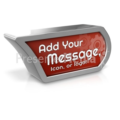 Custom Icon Marker Presentation clipart