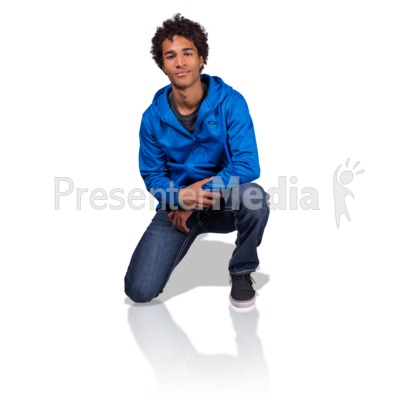 Young Man On Knee Presentation clipart