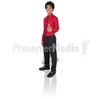 Young Man Thumbs Up Presentation clipart
