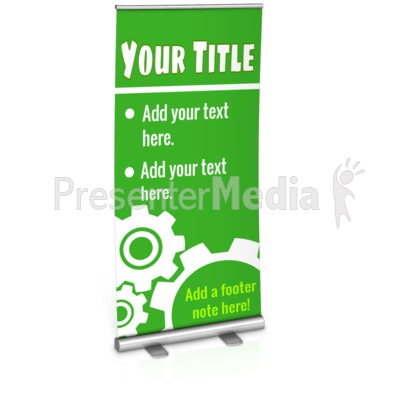Single Custom Roller Banner Presentation clipart