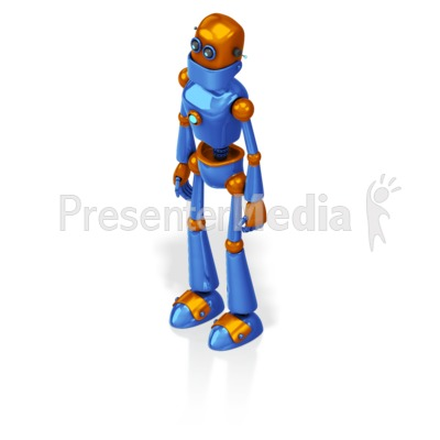 Retro Robot Custom Presentation clipart