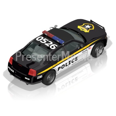 Police Car Back Presentation clipart