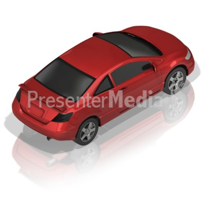 Compact Car Back Presentation clipart