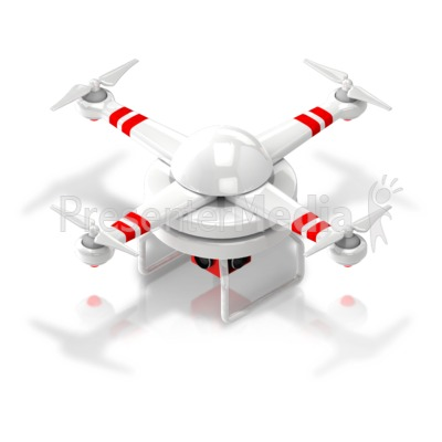 Drone Isometric Angle Presentation clipart