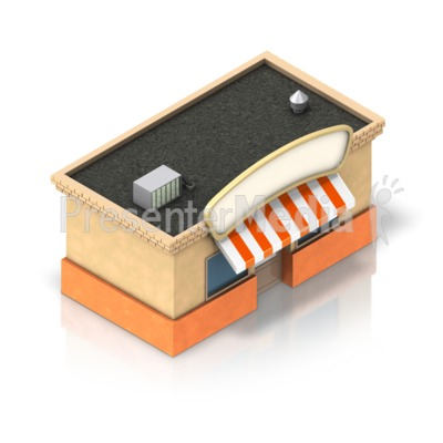 Shop Building Icon Presentation clipart