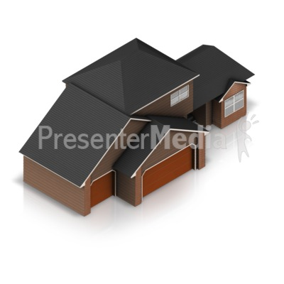 Three Stall Residential House Presentation clipart