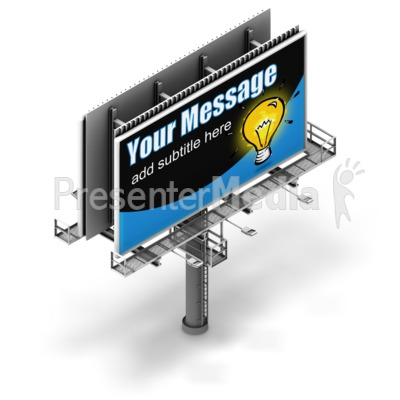 Billboard Isometric View Presentation clipart