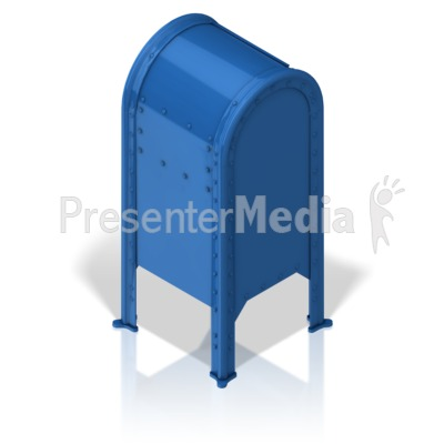 Mailbox Back Presentation clipart