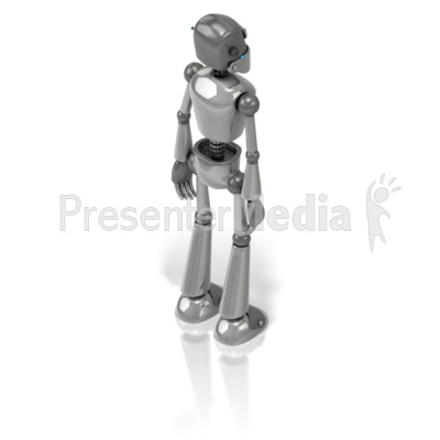 Retro Robot Back Presentation clipart