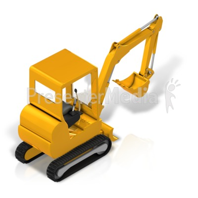 Back Hoe Isometric Back Presentation clipart