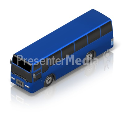 Touring Couch Bus Isometric Presentation clipart