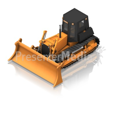 Bulldozer Front Isometric Presentation clipart