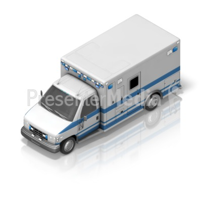 Ambulance Front Isometric Presentation clipart