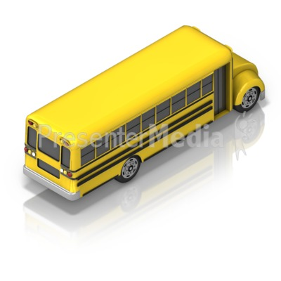 School Bus Back Presentation clipart