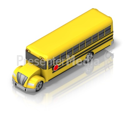 School Bus Front Isometric Presentation clipart