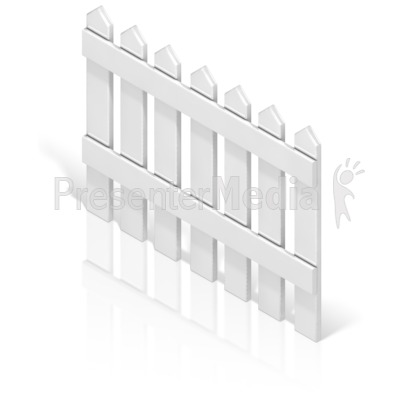 Picket Fence Back Presentation clipart