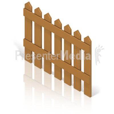Picket Fence Color Back Presentation clipart