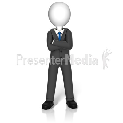 Power Stance Figure Presentation clipart