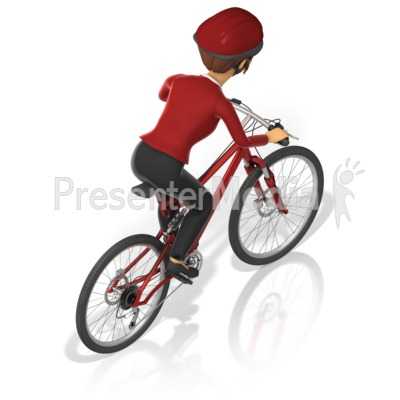 Business Woman Bicycle Back Presentation clipart