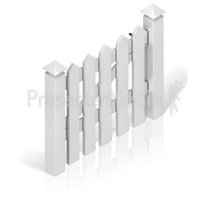 Picket Fence Gate Presentation clipart