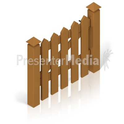 Picket Fence Gate Color Presentation clipart