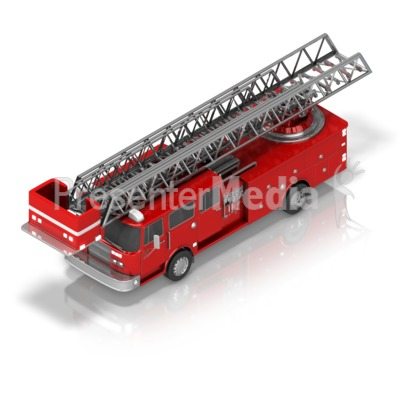 Firetruck Front Isometric Presentation clipart