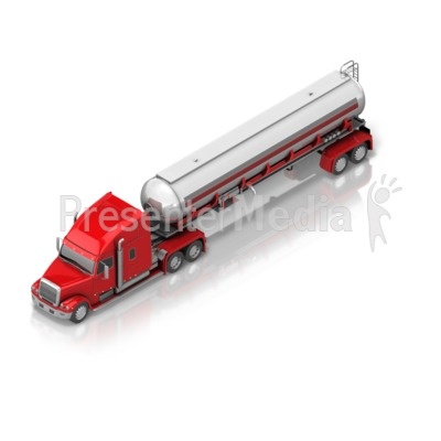 Fuel Semi Truck Presentation clipart