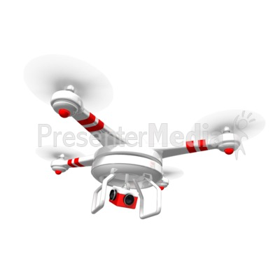 Drone Hovering Above Presentation clipart