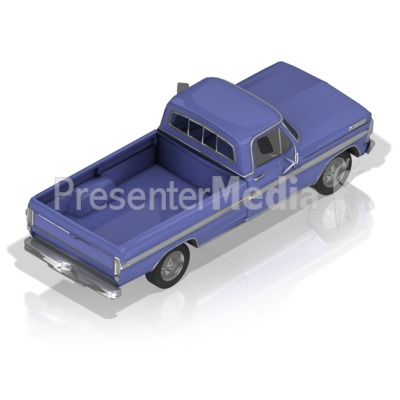 Pickup Truck Back Presentation clipart