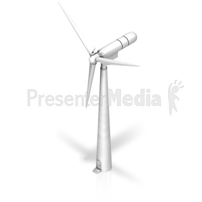 Wind Turbine Iso Presentation clipart