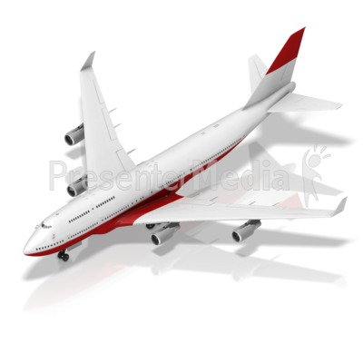 Grounded Plane Front Isometric Presentation clipart