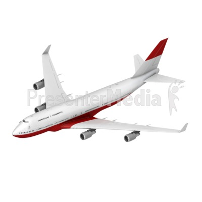 Airliner Flying Toward Isometric Presentation clipart