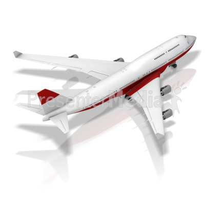 Grounded Plane Back Isometric Presentation clipart