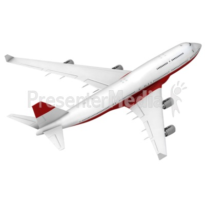 Airliner Flying Away Isometric Presentation clipart