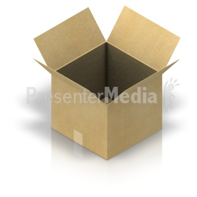 Shipping Box Open Presentation clipart
