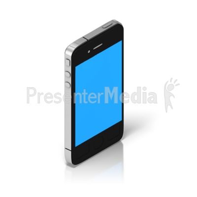 Smart Phone Isometric Presentation clipart