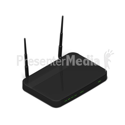 Wi Fi Router Isometric Presentation clipart