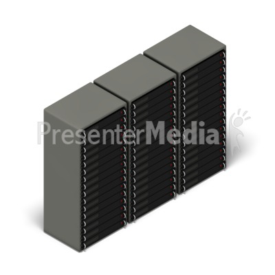 Server Farm Isometric Presentation clipart