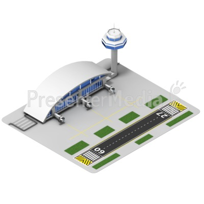 Airport Isometric Presentation clipart