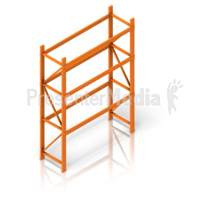 Empty Warehouse Rack isometric Presentation clipart