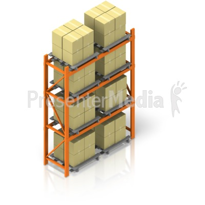 Full Warehouse Rack Isometric Presentation clipart